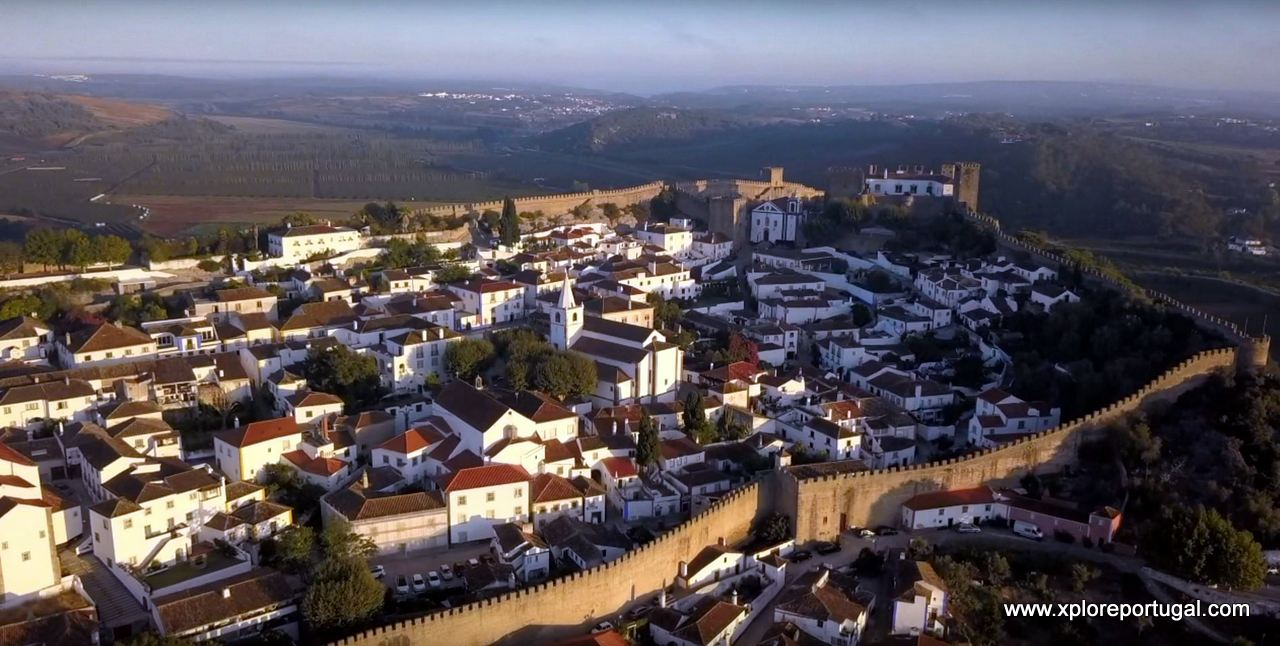 Óbidos aerial With Xplore Portugal