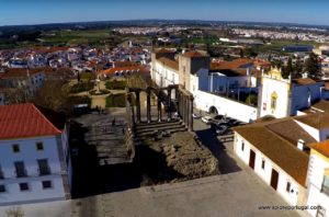 aerial of evora by Xplore Portugal